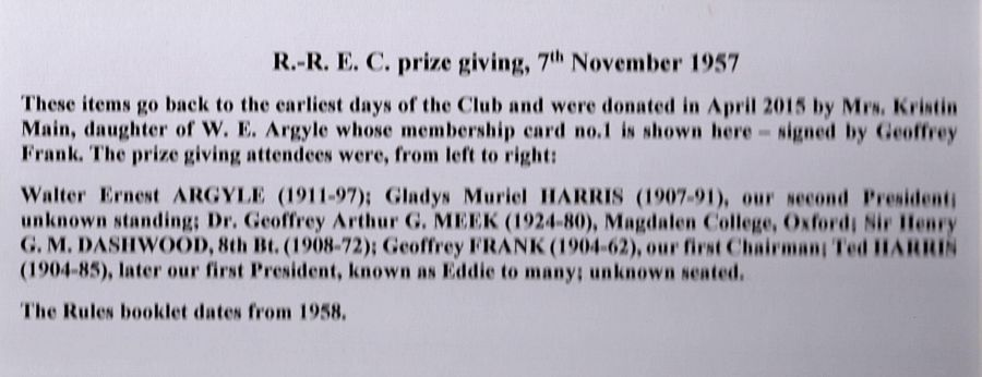 RREC first meeting 1957 prize giving text
