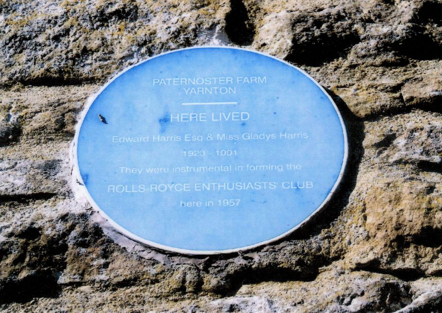 Plaque on the wall of Paternoster Farm, 1950s