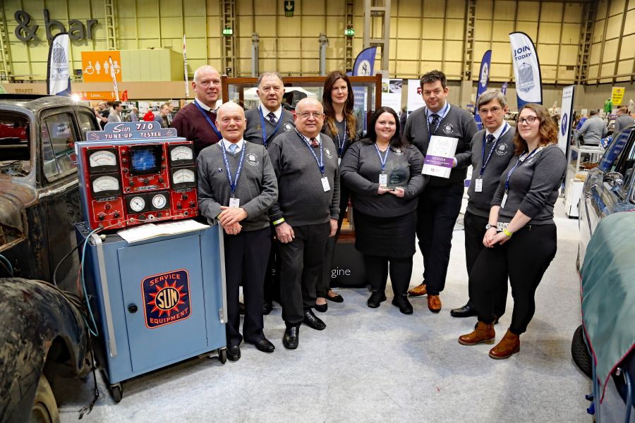 2018 - The RREC wins best large car club stand at the Restoration Show